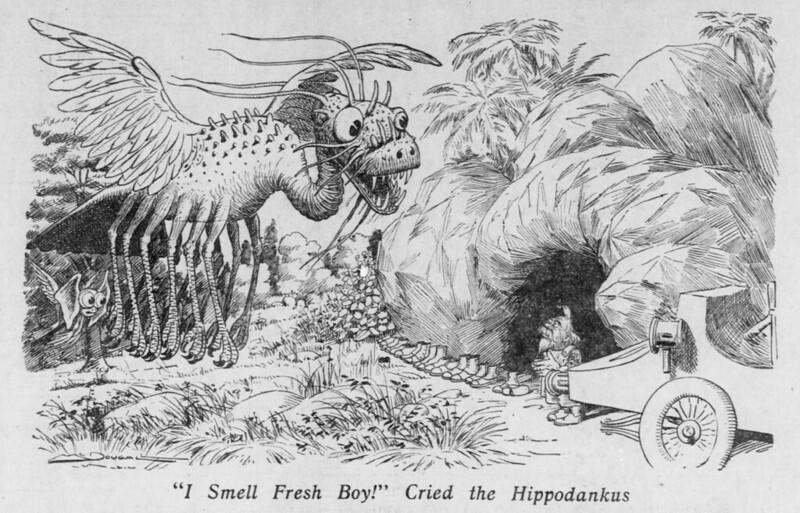 """Walt McDougall - The Salt Lake herald., November 15, 1903, """"I Smell Fresh Boy!"""" Cried the Hippodankus"""