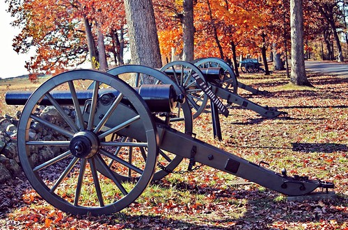 Gettysburg NMP ~ cannons in a row - HCS!