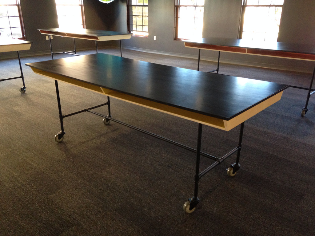 Beau Team Build: Modern Industrial Work Tables (For Our Actual Work ...