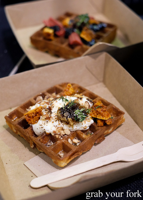 Cornersmith waffle with fermented honey labenh at Rootstock Sydney 2015