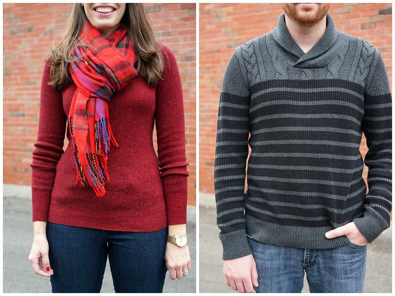casual holiday style Express sweaters 2