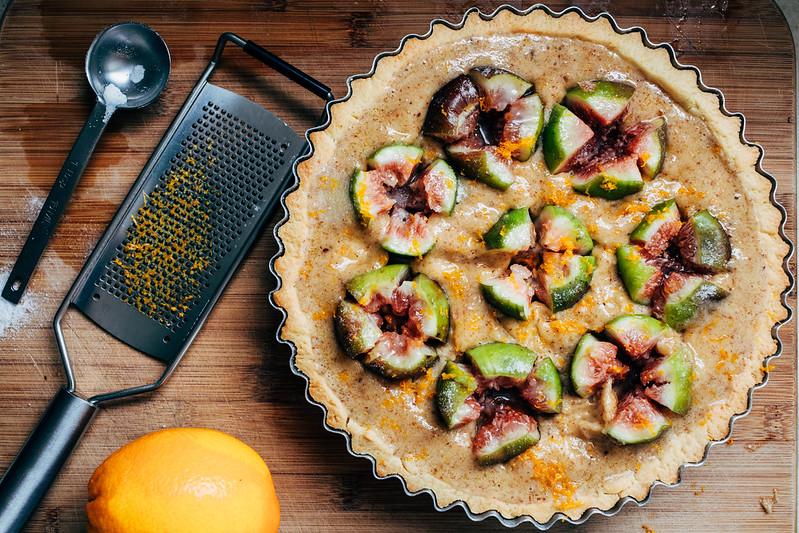 Torta de Figo e Amêndoas