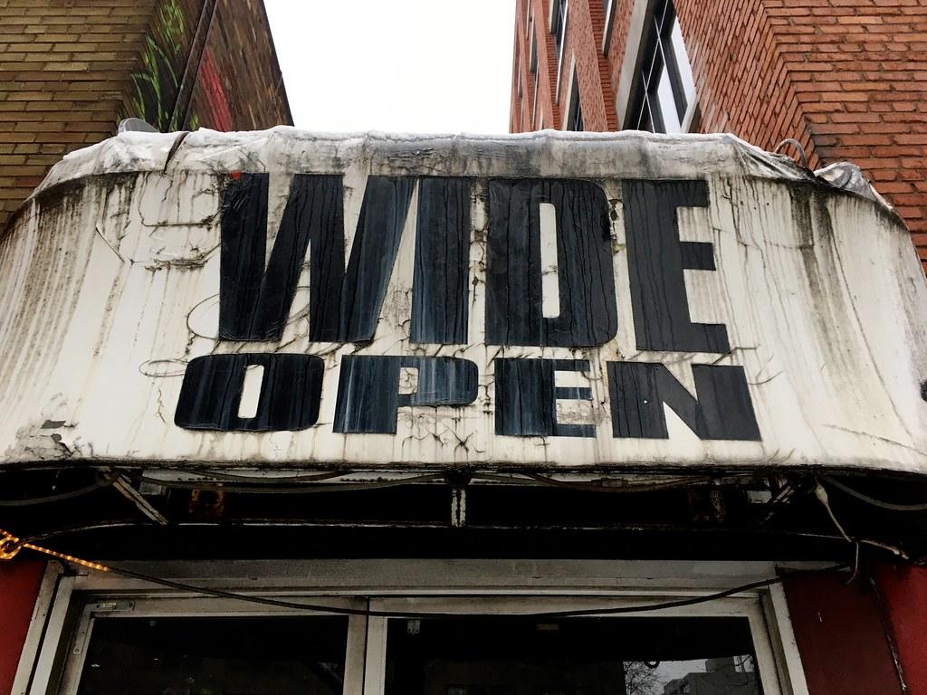 Open as in Wide Open