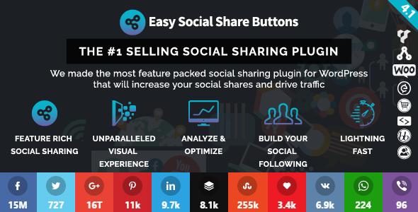 Easy Social Share Buttons v4.1 for WordPress