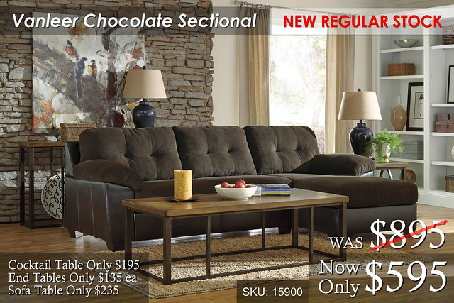 Vanleer Chocolate Sectional