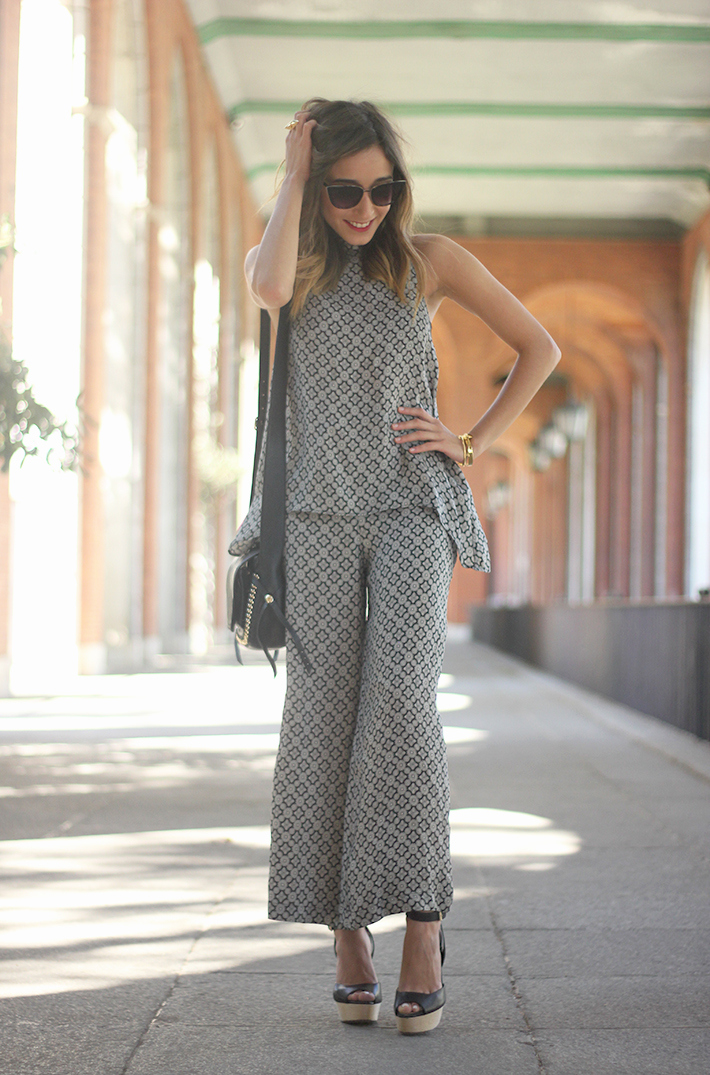 Black & White printted Set Summer Streetstyle outfit08