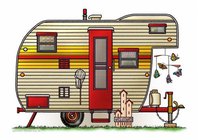 Whimsical Yellowstone fifth wheel RV