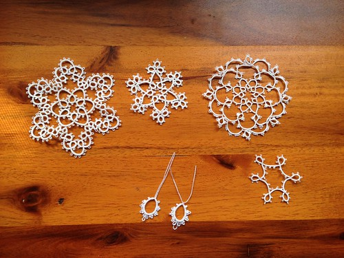 More tatting. Size 30, 40, and 100 threads.