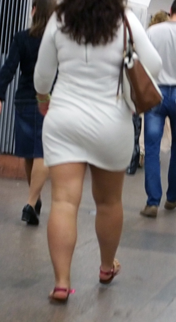 Sexy Woman In White Dress Curvy Thick Ass Strong Legs Flickr
