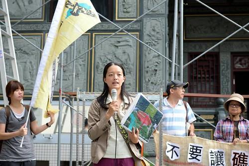記者會上宜蘭立法委員參選人孫博萮致詞。(攝影:林克雄)