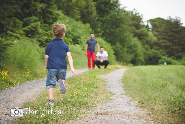 Family photos at the farm