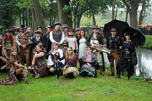 partial steampunk group shot