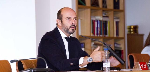 Photo:Pedro Rollán, consejero de Transportes, Vivienda e Infraestructuras, en los desayunos de Sol By Comunidad de Madrid