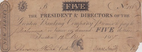 Trenton Banking Company genuine note