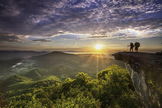 McAfee-Knob-Hikers-Sunrise