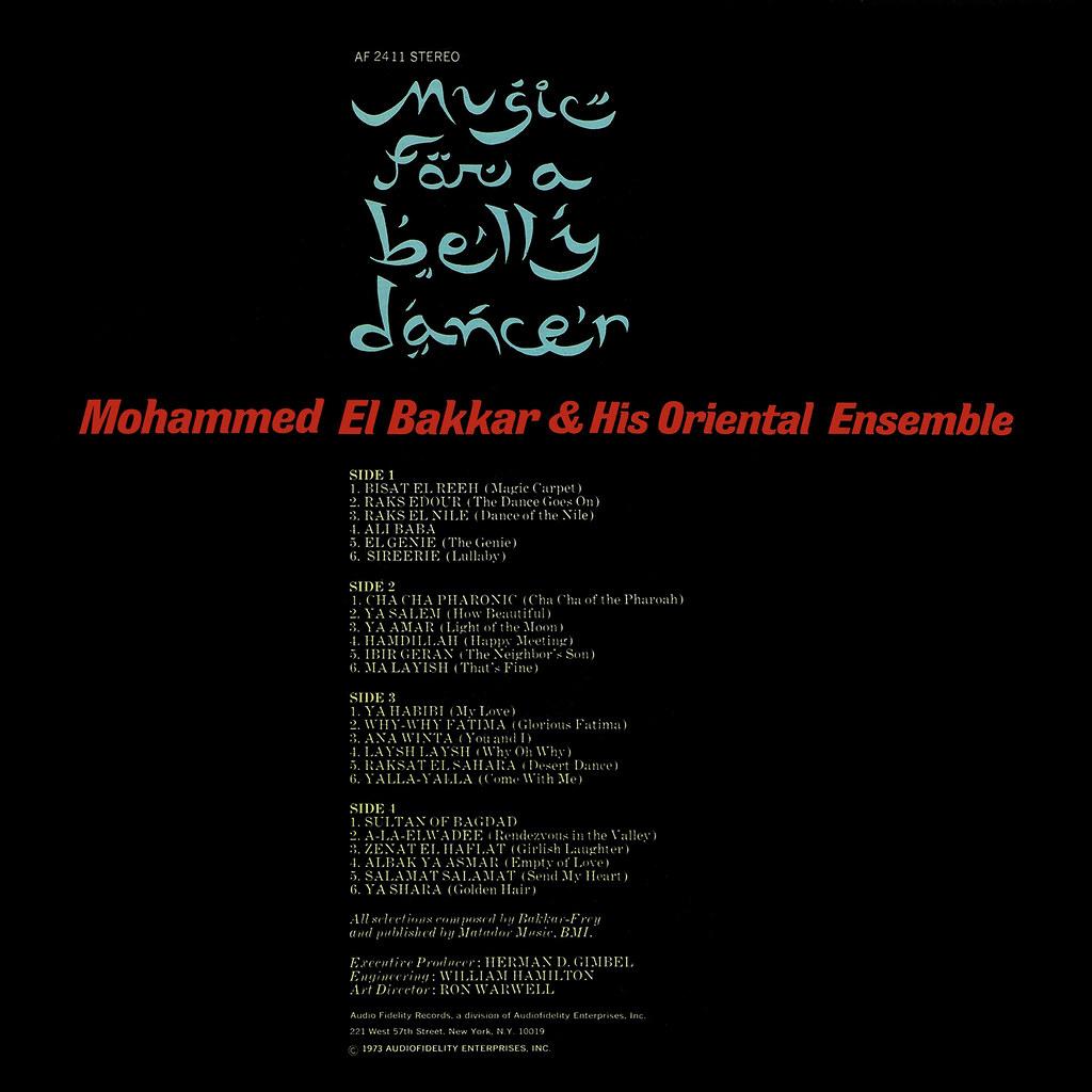 Mohammed El Bakkar – Music for a Belly Dancer