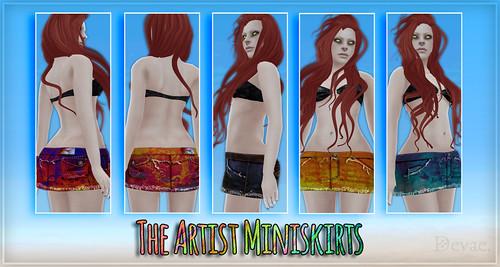 Devae. Attire / The Artist Miniskirts