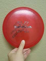Innova Pearly Champion Sidewinder-170, very grippy/pearly, x-out stamp, faded ink on back, 7/10
