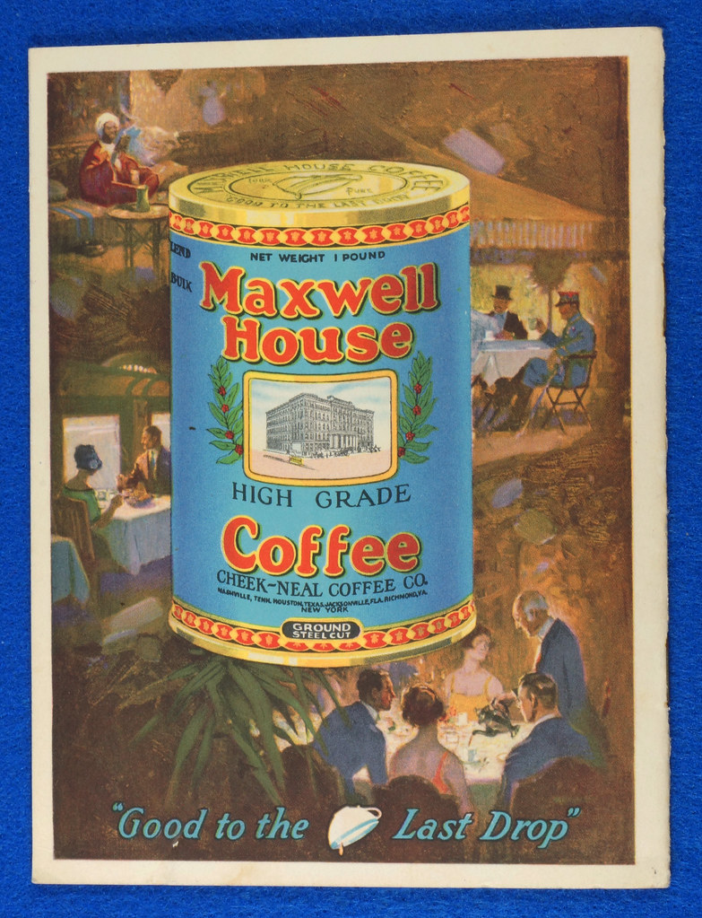 RD12151 1925 Advertising Booklet for Maxwell House Coffee Titled The Story of Coffee DSC08589