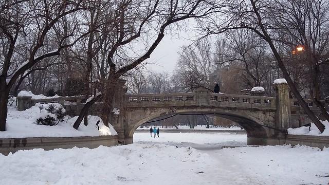 The bridge over the snow