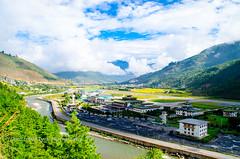 A view of Paro airport, Bhutan