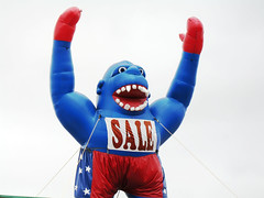 inflatable, action figure, mascot,