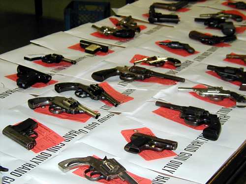 02-04-02 Gun Buyback at Precinct Station, Detroit, Michigan