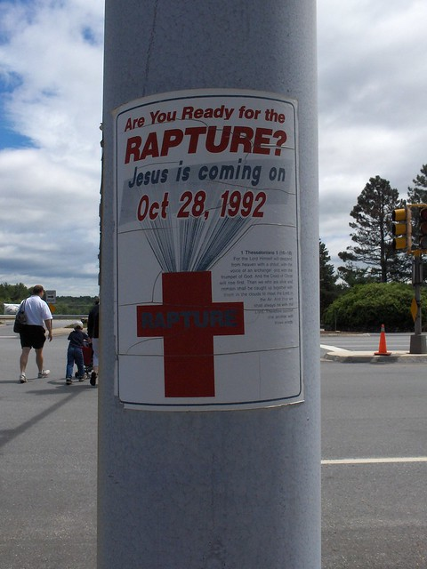 Rapture sign -- Holding up well after 14 years...