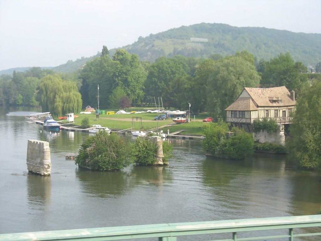 A View of the Old Mill of Vernon & Ancient Remains of the Bridge Over the Seine, Vernon, France