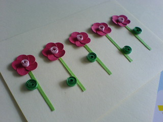Sweet Pink Flower Tag