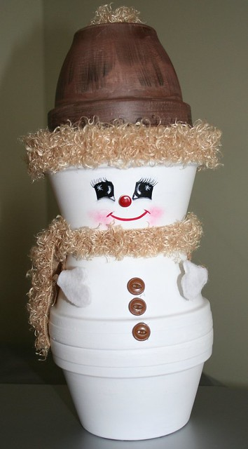 Crafts Clay Pots - Snowman - 2005 | I love making thing with ...