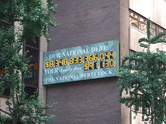 The US National Debt clock / counter, New York