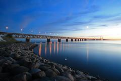 Öresundsbron by nightfall