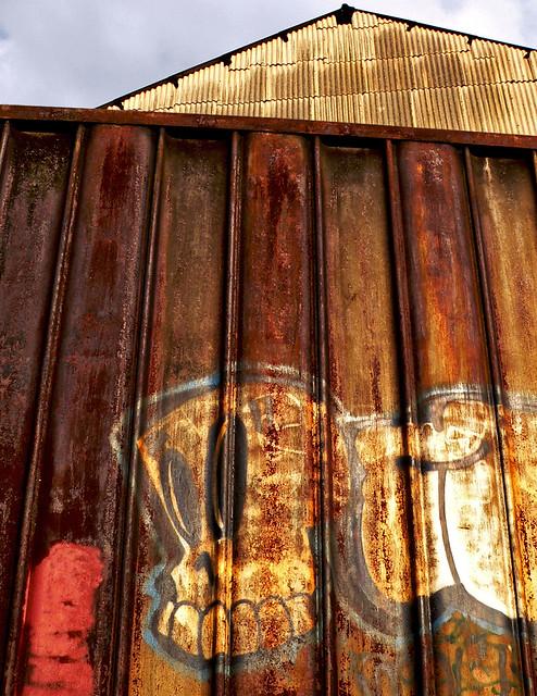 Rusted Heppenstall Wall, Panasonic DMC-FZ15