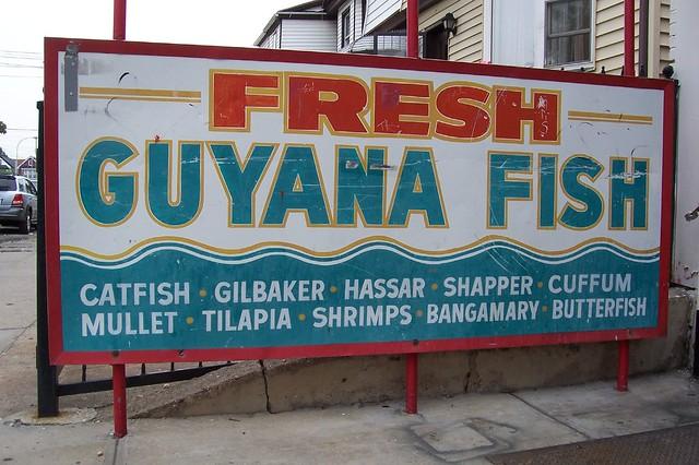 Fresh guyana fish at liberty halal meat market richmond for Fish market queens