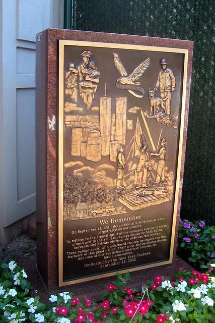 Yankee Stadium Monument Park 9 11 Memorial Flickr