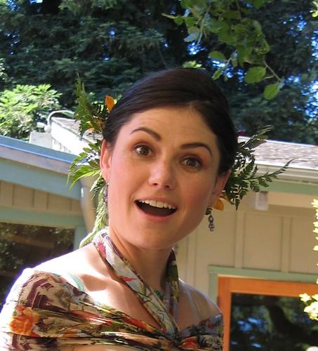 Rachel looking surprised.