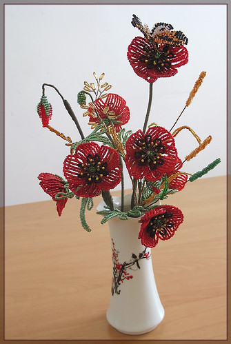 Bouquet of Beaded Flowers