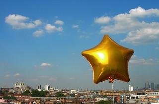 London, gold star
