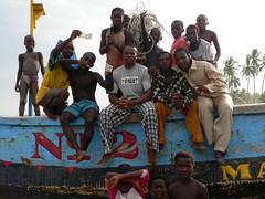 People at Anamabu beach