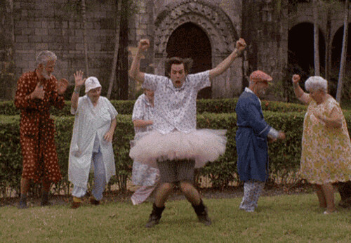 Ace Ventura tutu dance | Flickr - 146.1KB