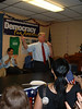 Howard Dean at a rally in Columbus, Ohio