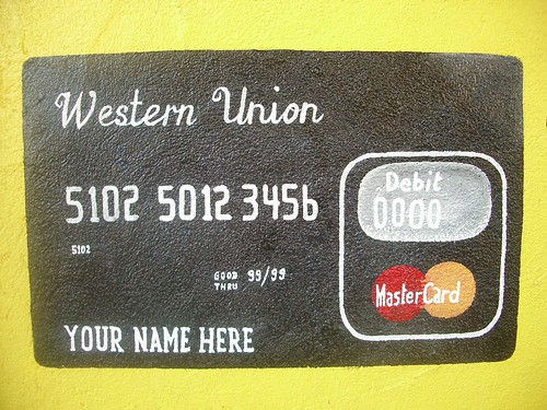 Hand-painted credit card