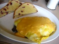 meal, breakfast, omurice, baked goods, food, dish, dessert, cuisine, omelette,