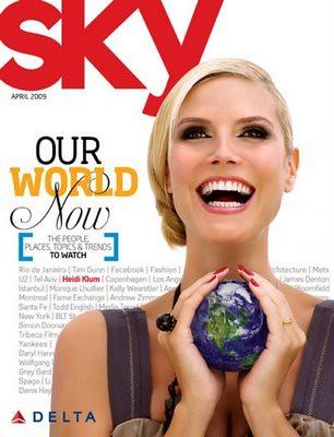 Heidi Klum Sky Magazine by Biilboard Hot 100