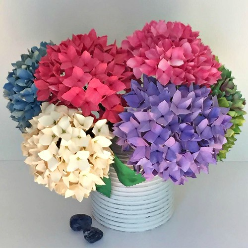 3d Origami Flower Vase Tutorial Psychologyarticlesfo