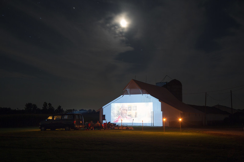 Movie Projected on the Barn, Indiana