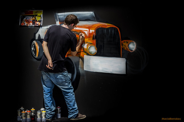 Spain - Malaga - Museo Automovilistico - Cars tunning concentration - Graffiti