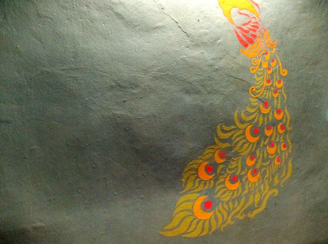 Payung Cafe peacock tail