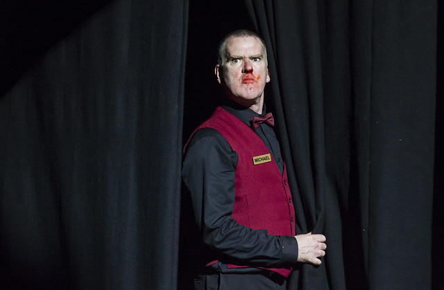 Mikel Murfi in Enda Walsh's The Last Hotel © Landmark Productions and Wide Open Opera 2015. Photo by Patrick Redmond, 2015